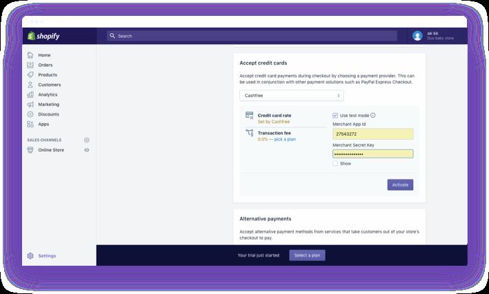 Shopify Payment Gateway Integration