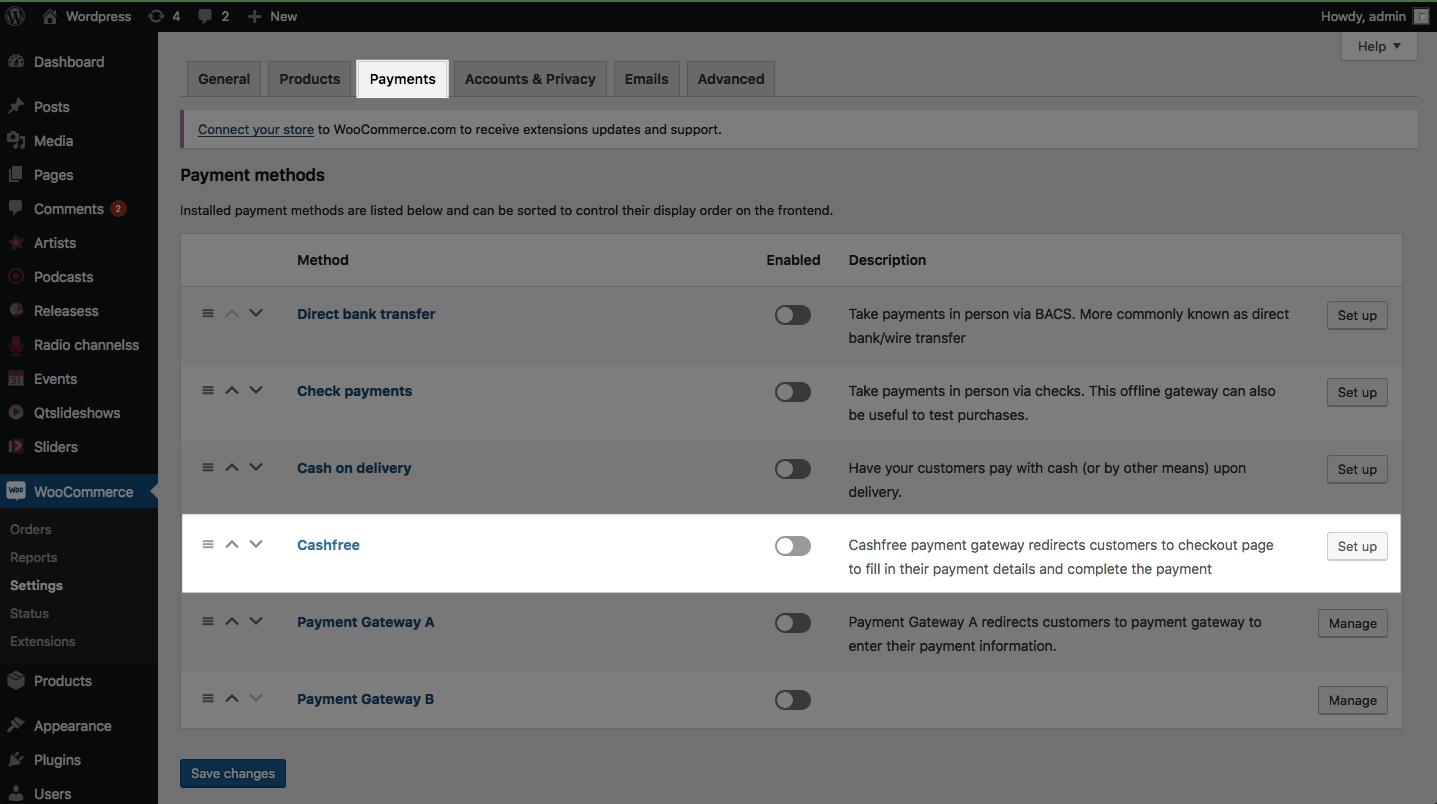 Woocommerce Payment Gateway Integration